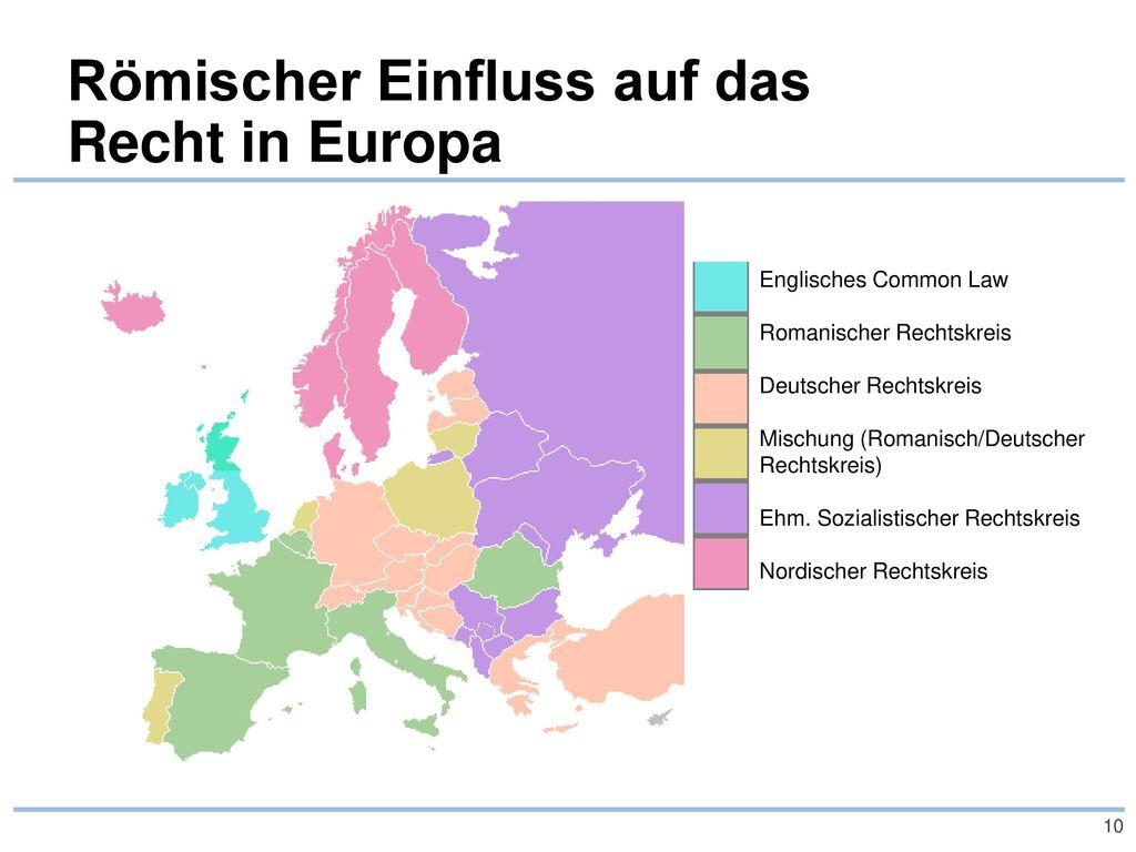 Römischer Einfluss auf das Recht in Europa