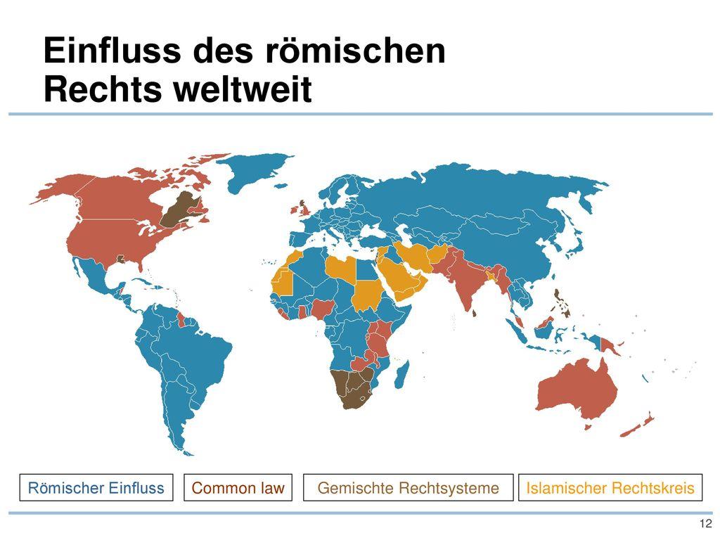 Einfluss des römischen Rechts weltweit