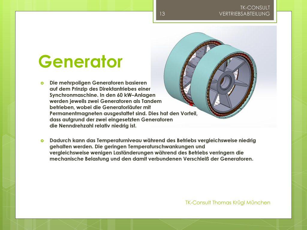 Generator TK-CONSULT VERTRIEBSABTEILUNG