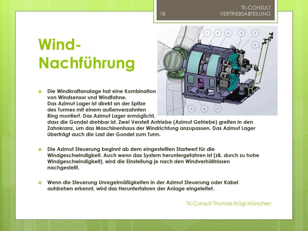 Wind- Nachführung TK-CONSULT VERTRIEBSABTEILUNG