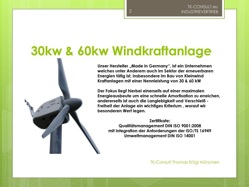 30kw & 60kw Windkraftanlage