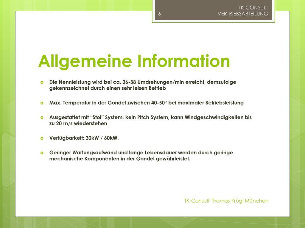 Allgemeine Information