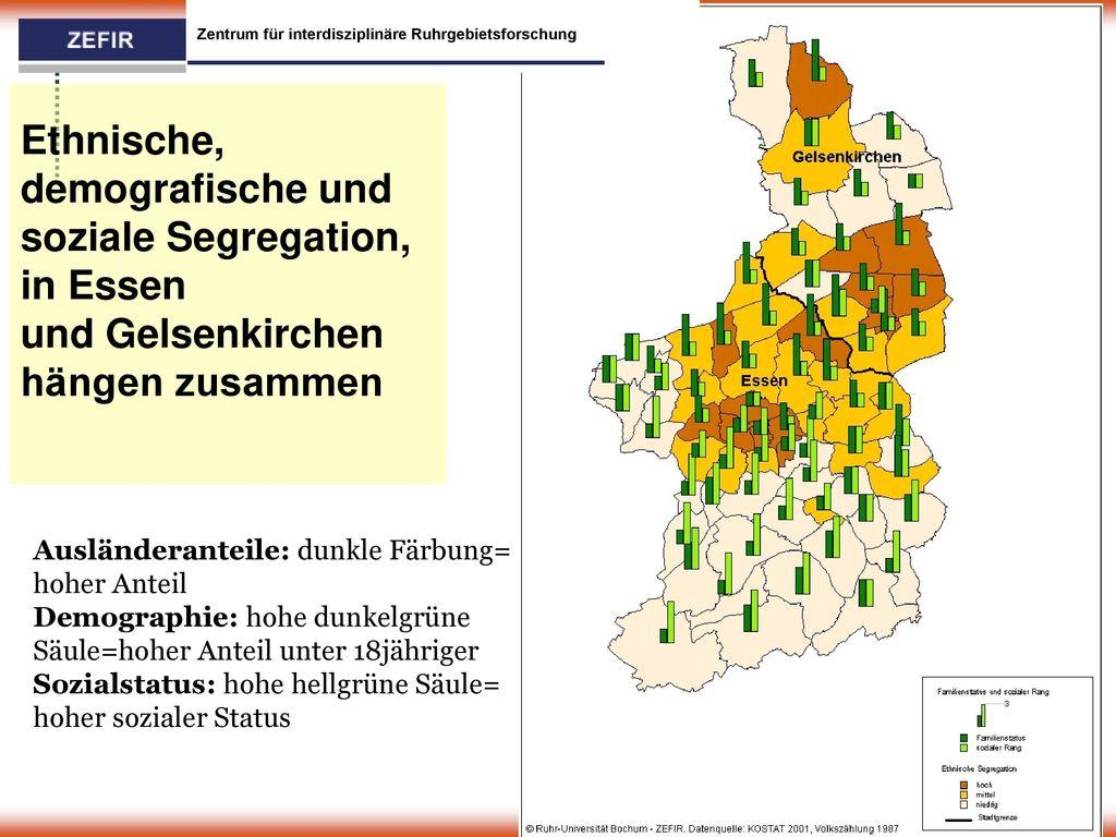 Ethnische, demografische und soziale Segregation,