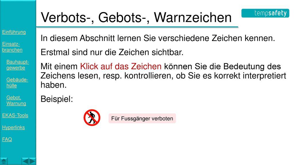 Verbots-, Gebots-, Warnzeichen