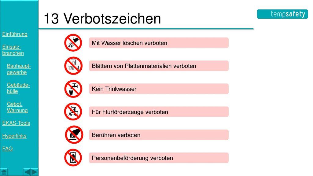 13 Verbotszeichen Mit Wasser löschen verboten