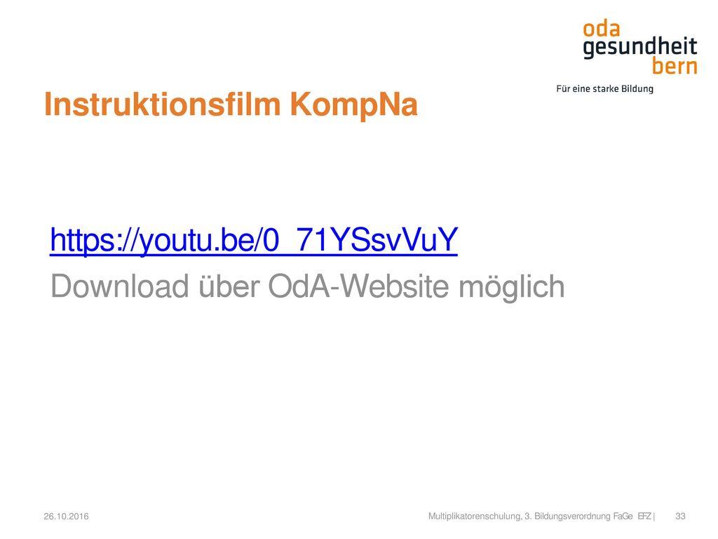 Instruktionsfilm KompNa
