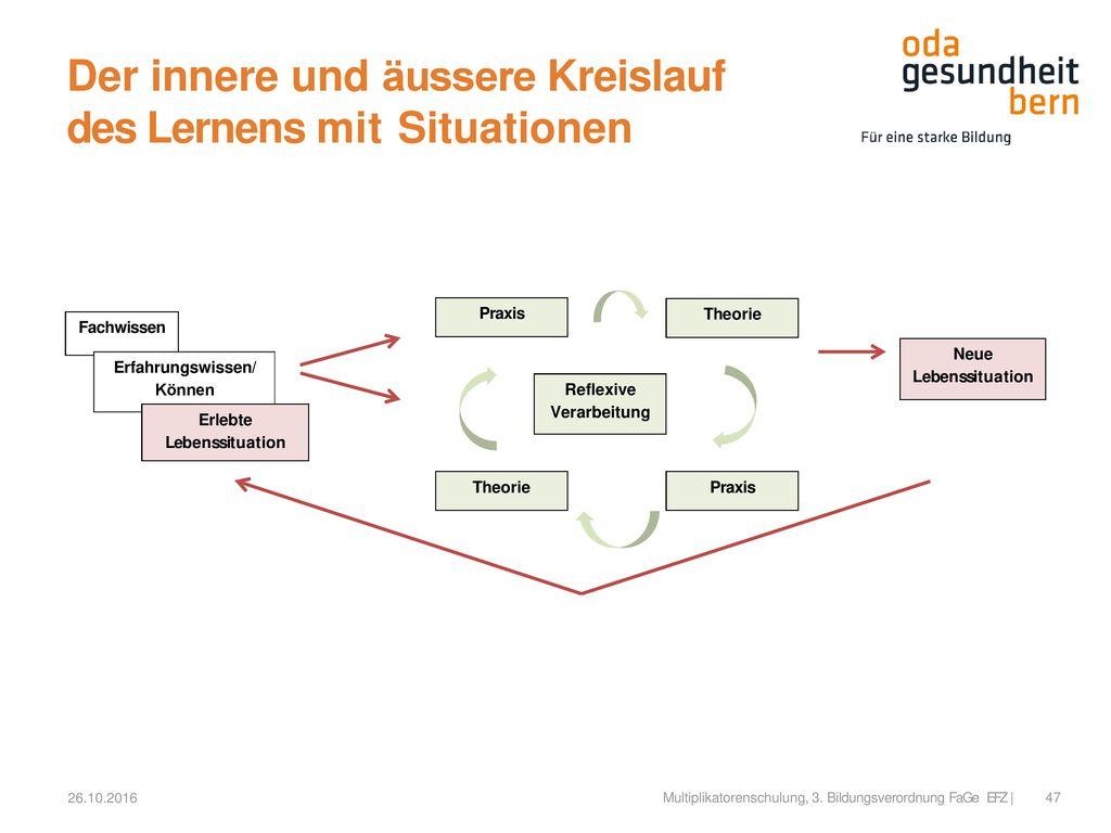 Der innere und äussere Kreislauf des Lernens mit Situationen