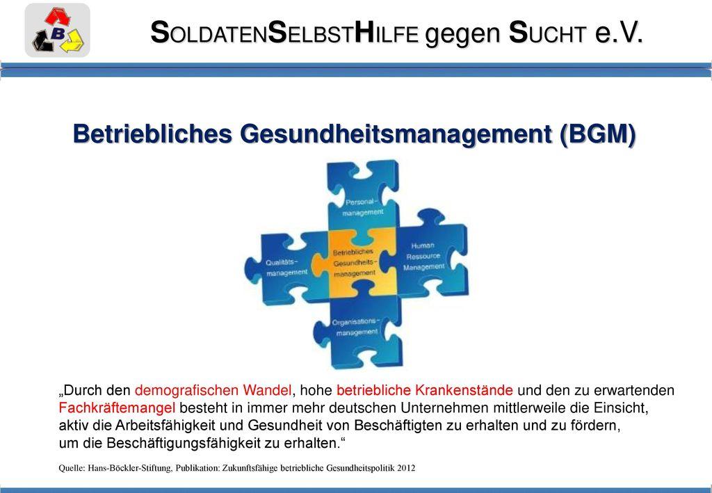 Betriebliches Gesundheitsmanagement (BGM)