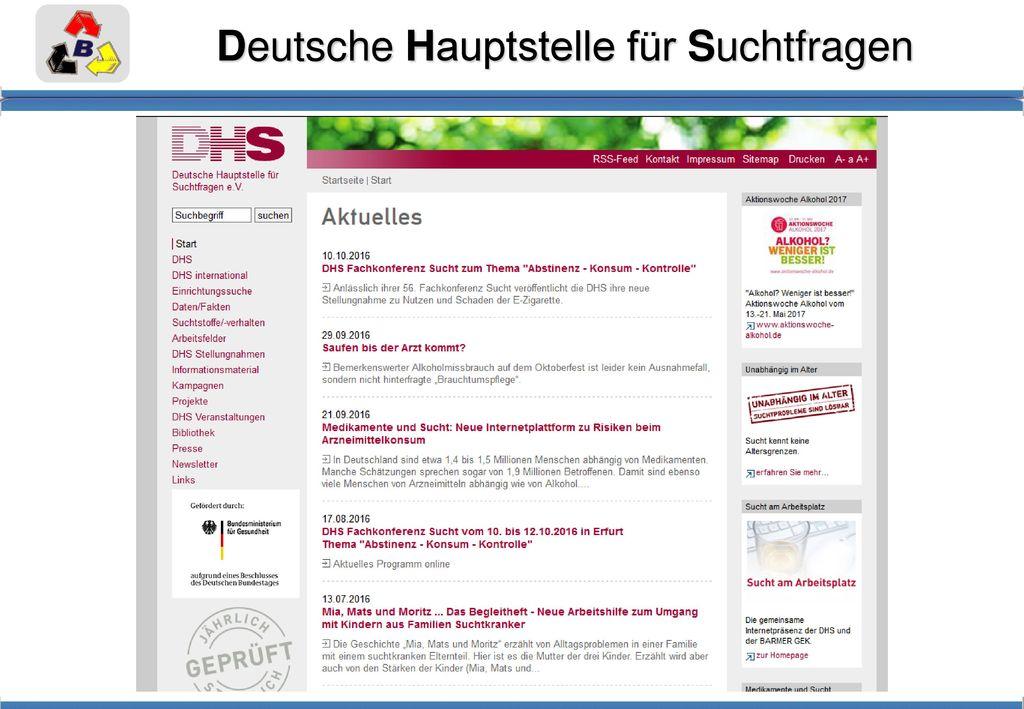 Deutsche Hauptstelle für Suchtfragen