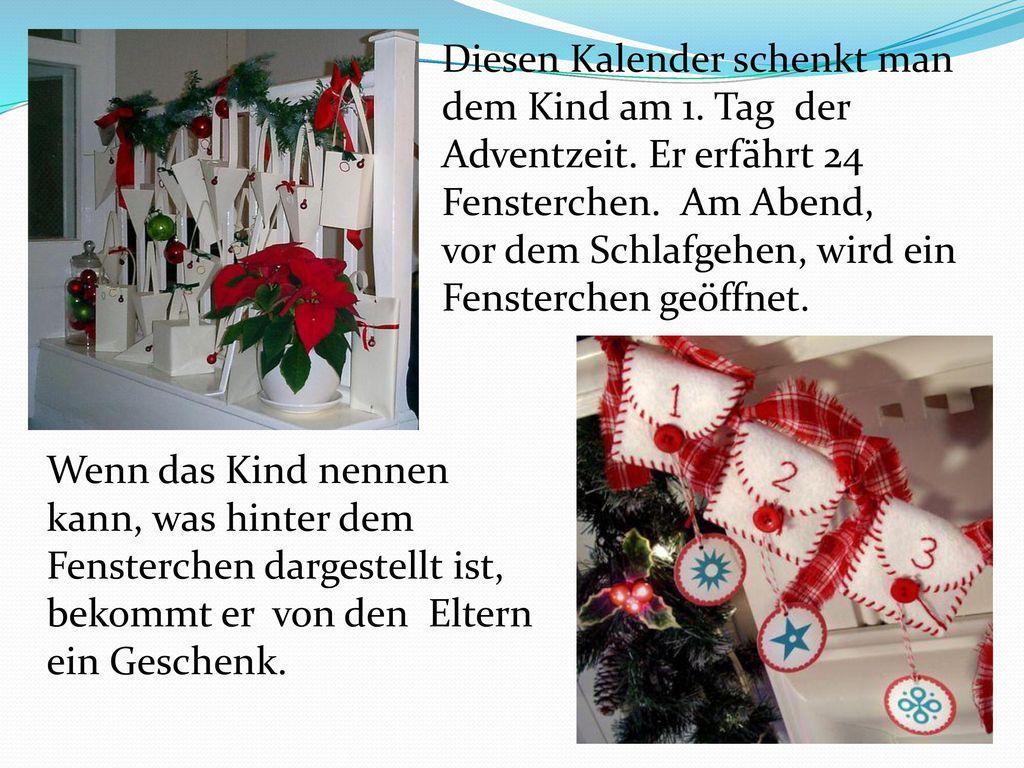 Diesen Kalender schenkt man dem Kind am 1. Tag der Adventzeit