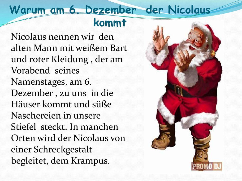 Warum am 6. Dezember der Nicolaus kommt