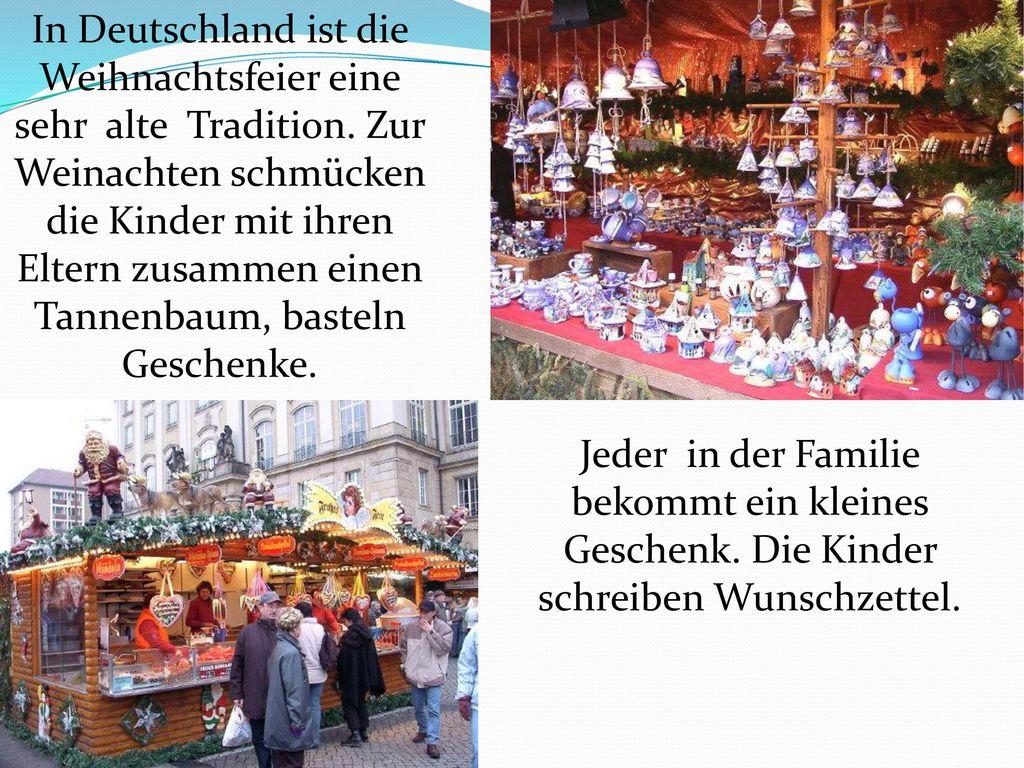 In Deutschland ist die Weihnachtsfeier eine sehr alte Tradition