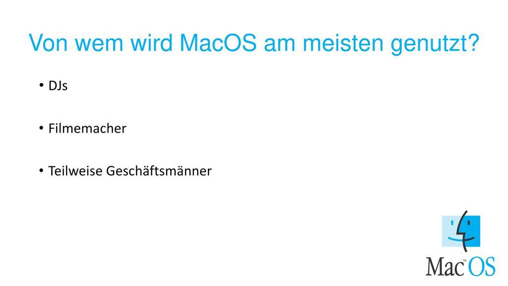 Von wem wird MacOS am meisten genutzt