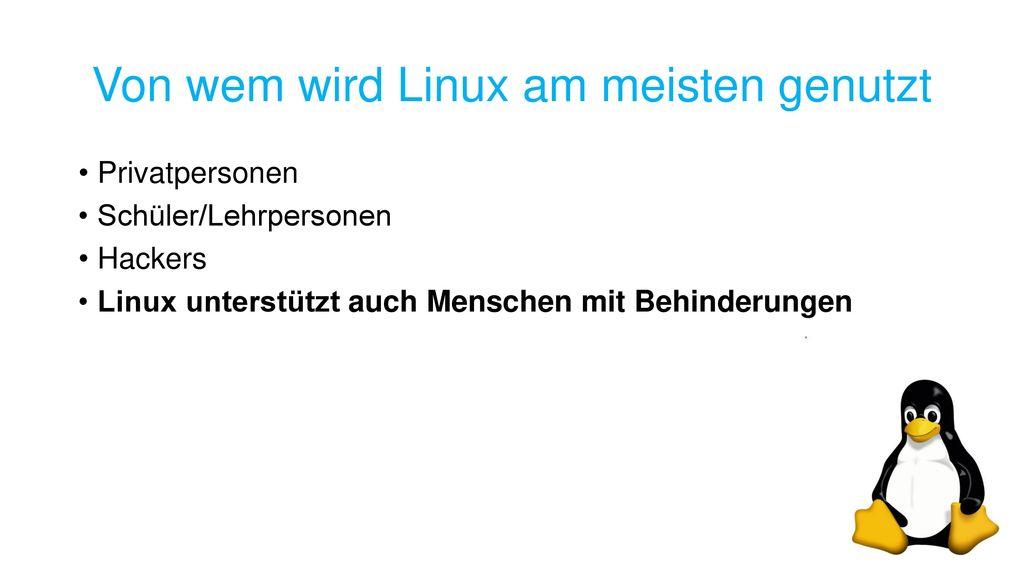 Von wem wird Linux am meisten genutzt