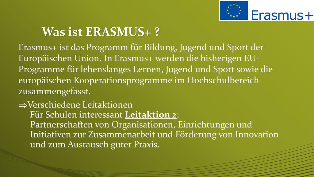 Was ist ERASMUS+