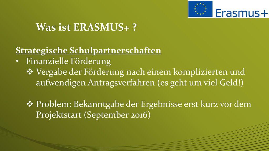 Was ist ERASMUS+ Strategische Schulpartnerschaften