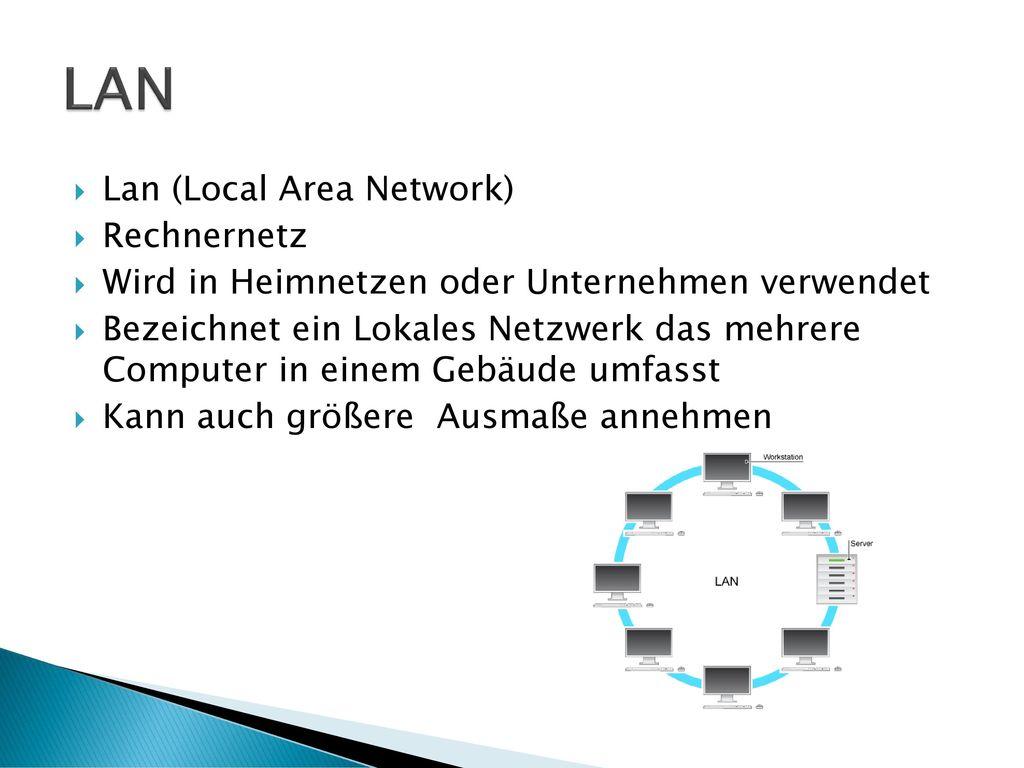 LAN Lan (Local Area Network) Rechnernetz