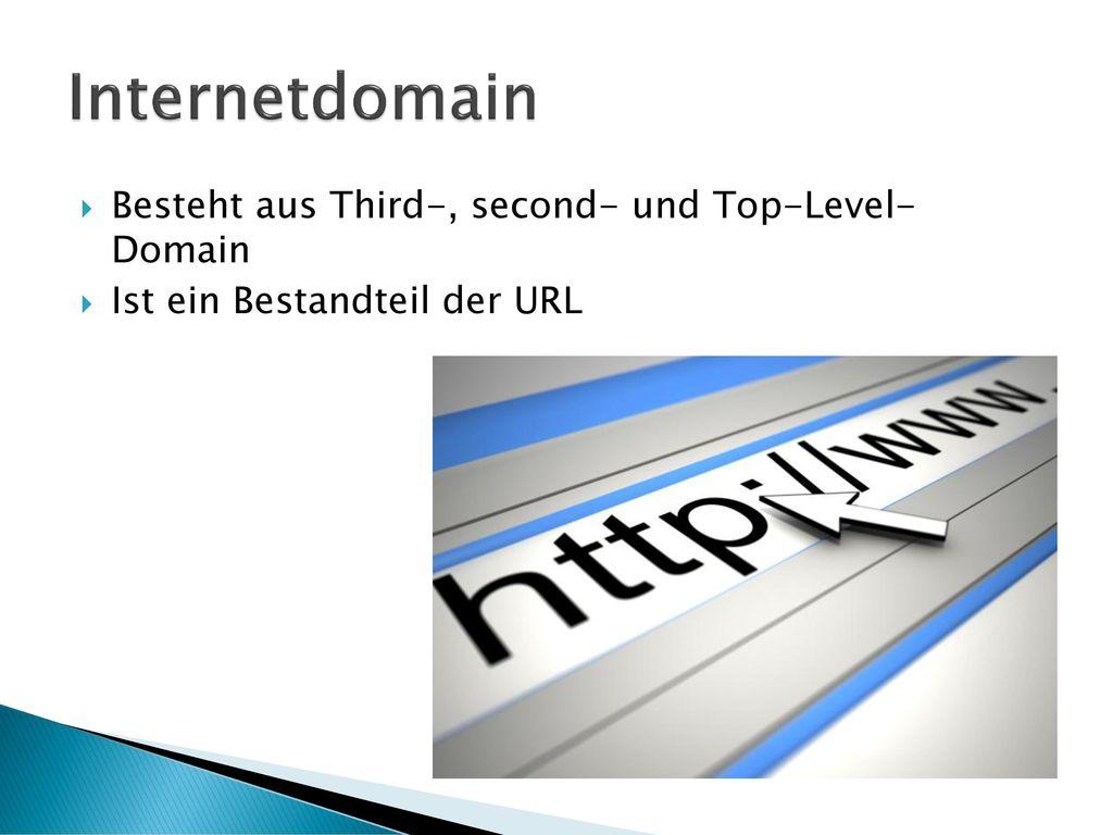 Internetdomain Besteht aus Third-, second- und Top-Level- Domain
