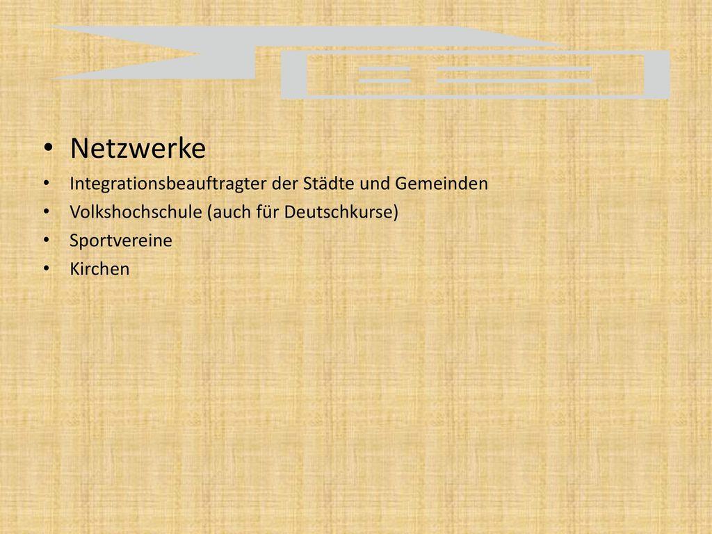 Netzwerke Integrationsbeauftragter der Städte und Gemeinden