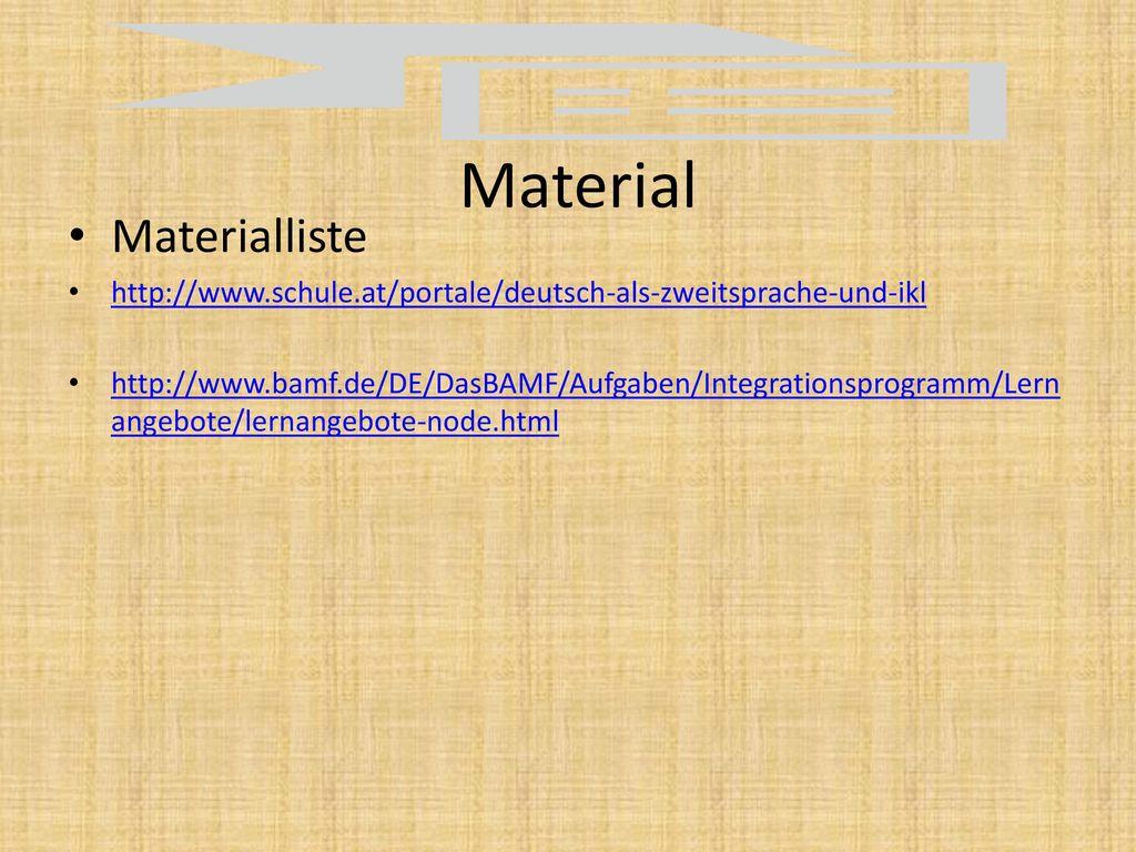 Material Materialliste