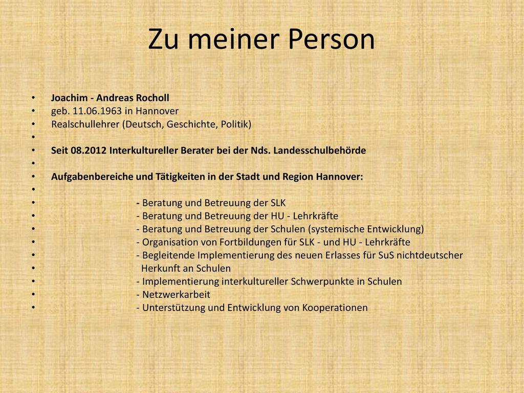 Zu meiner Person Joachim - Andreas Rocholl geb. 11.06.1963 in Hannover