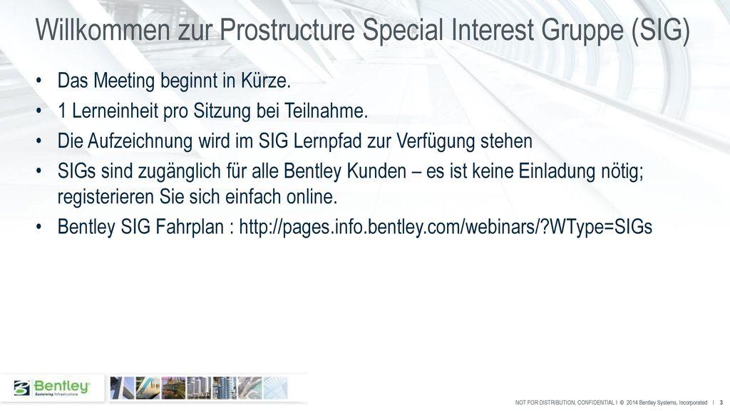 Willkommen zur Prostructure Special Interest Gruppe (SIG)
