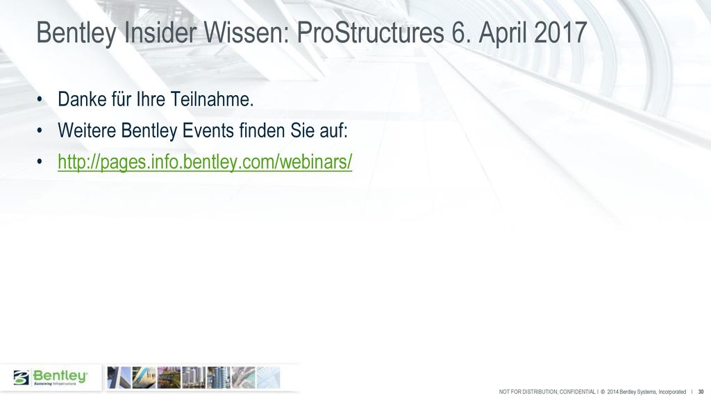 Bentley Insider Wissen: ProStructures 6. April 2017