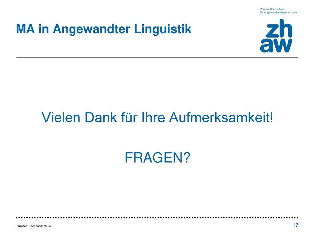 MA in Angewandter Linguistik