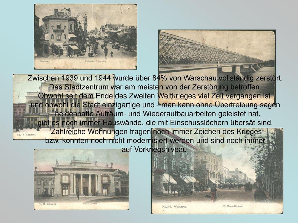 Das Stadtzentrum war am meisten von der Zerstörung betroffen.