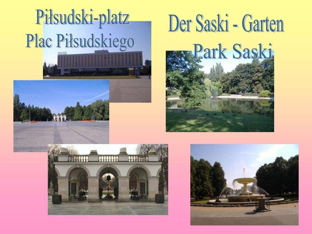 Piłsudski-platz Der Saski - Garten Plac Piłsudskiego Park Saski
