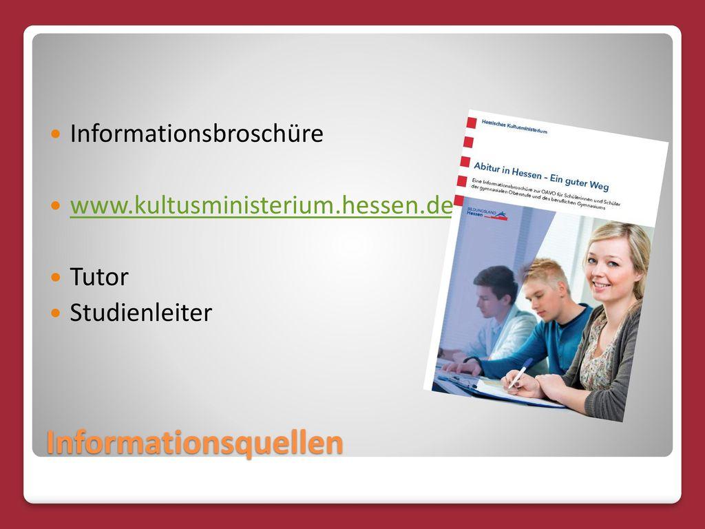 Informationsquellen Informationsbroschüre