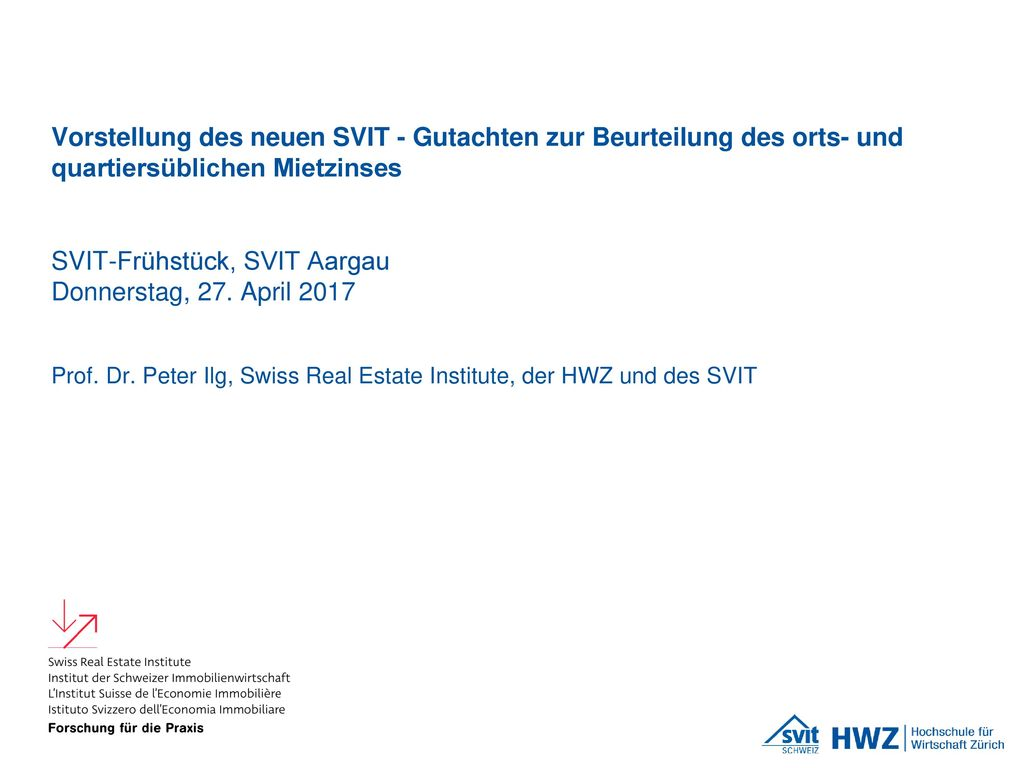 SVIT-Frühstück, SVIT Aargau Donnerstag, 27. April 2017