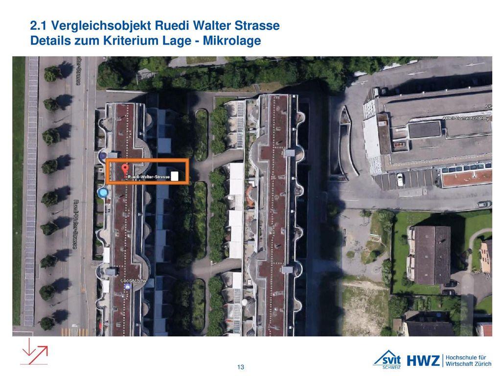 2.1 Vergleichsobjekt Ruedi Walter Strasse Details zum Kriterium Lage - Mikrolage