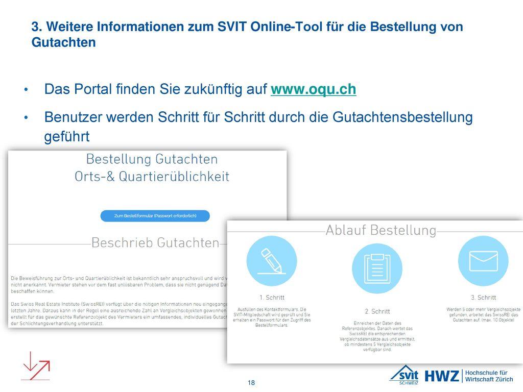 Das Portal finden Sie zukünftig auf www.oqu.ch