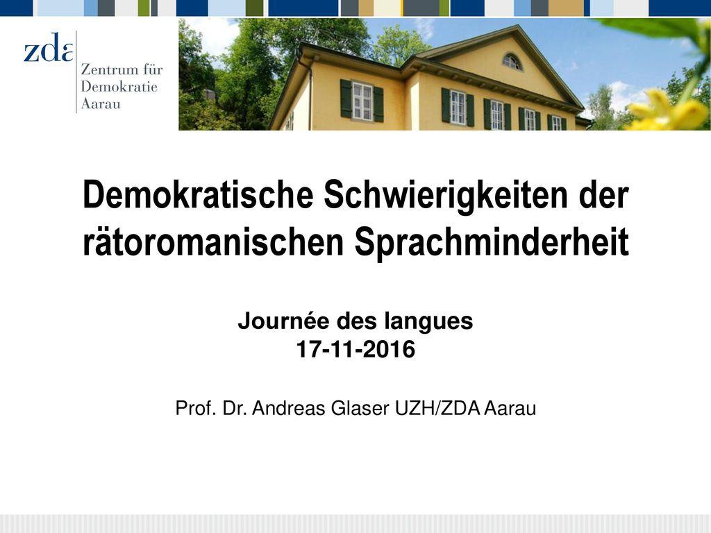 Demokratische Schwierigkeiten der rätoromanischen Sprachminderheit