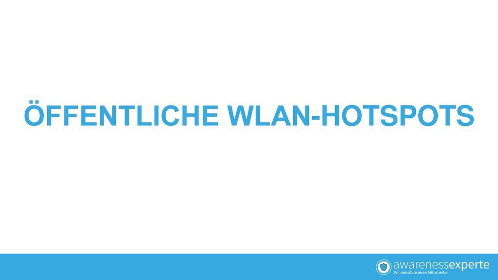 ÖFFENTLICHE WLAN-HOTSPOTS