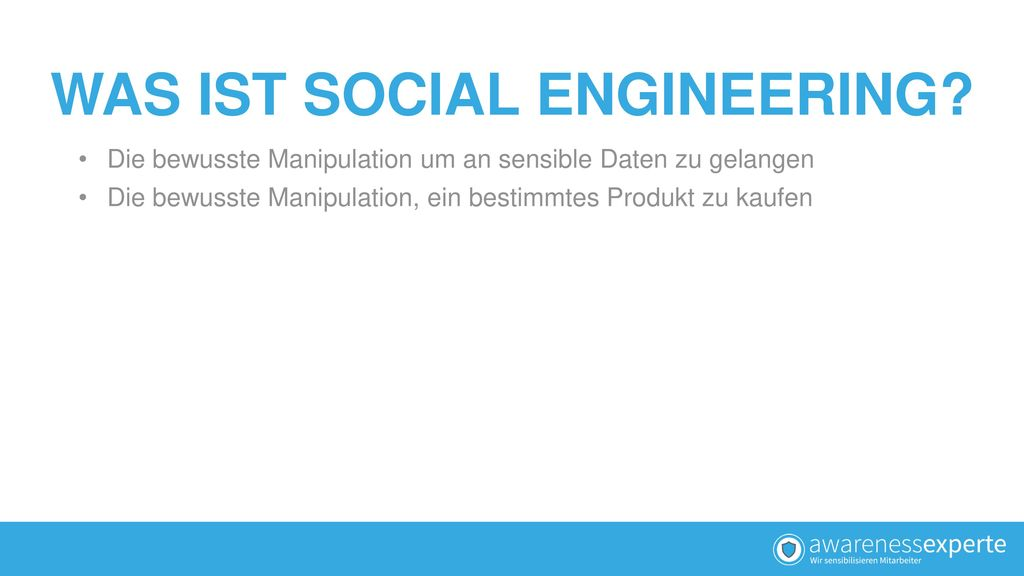 WAS IST SOCIAL ENGINEERING