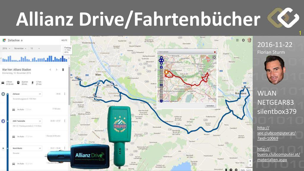 Allianz Drive/Fahrtenbücher