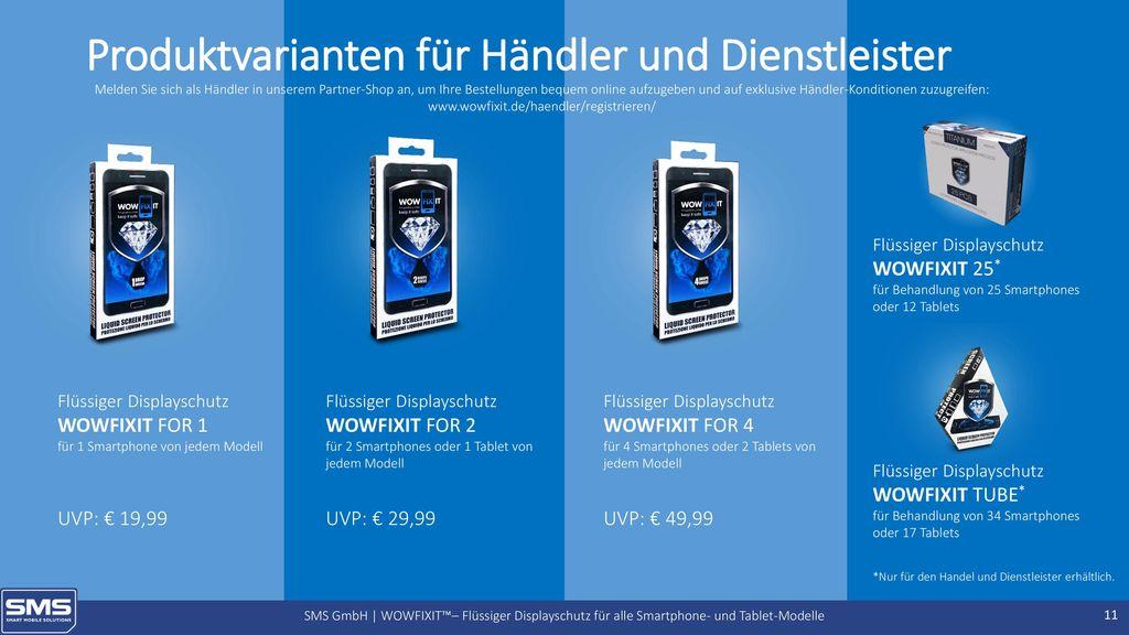 Produktvarianten für Händler und Dienstleister