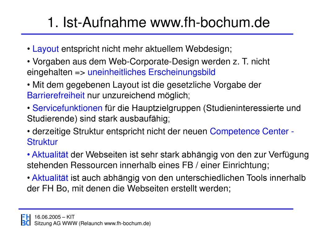 1. Ist-Aufnahme www.fh-bochum.de
