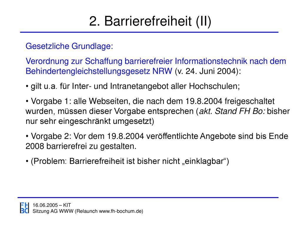 2. Barrierefreiheit (II)