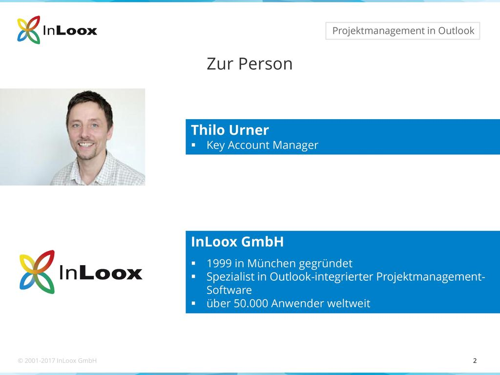 Zur Person Thilo Urner InLoox GmbH Key Account Manager