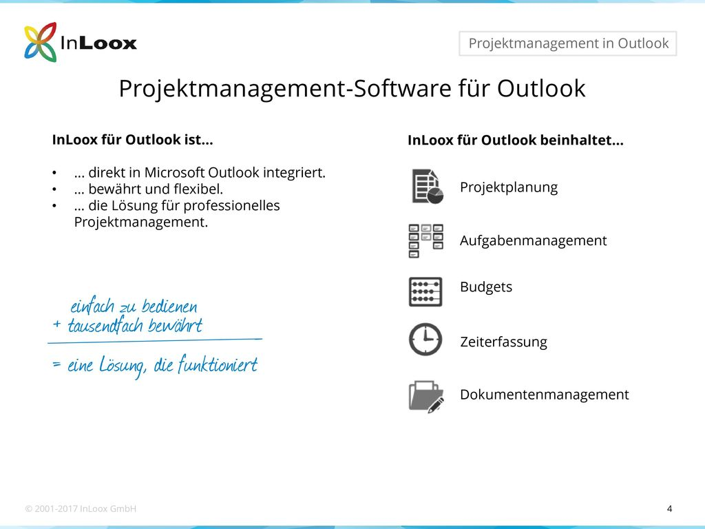 Projektmanagement-Software für Outlook