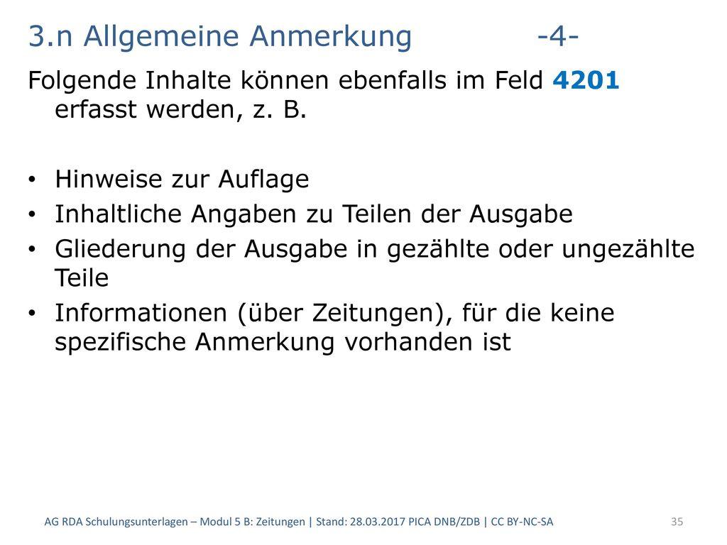 3.n Allgemeine Anmerkung -4-