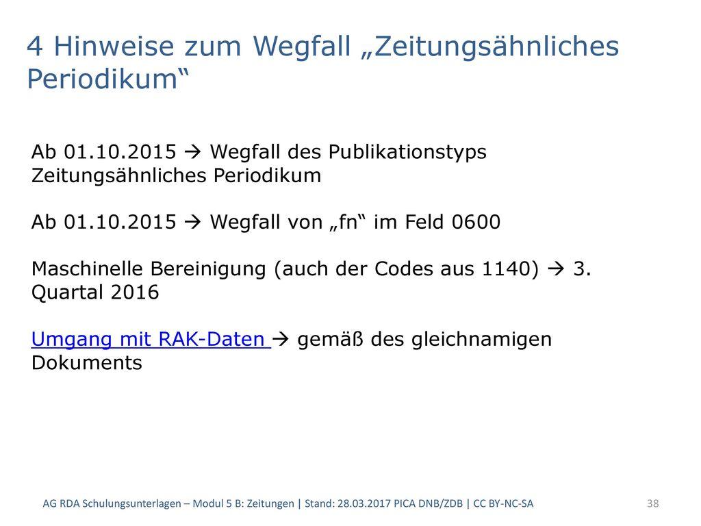"""4 Hinweise zum Wegfall """"Zeitungsähnliches Periodikum"""