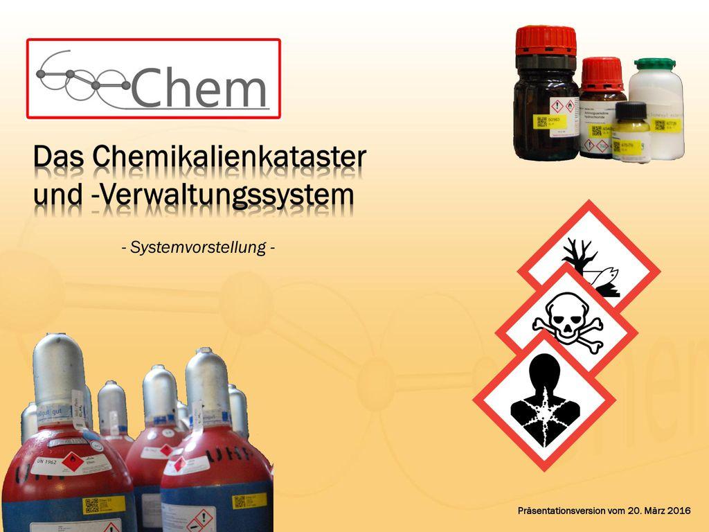Das Chemikalienkataster und -Verwaltungssystem
