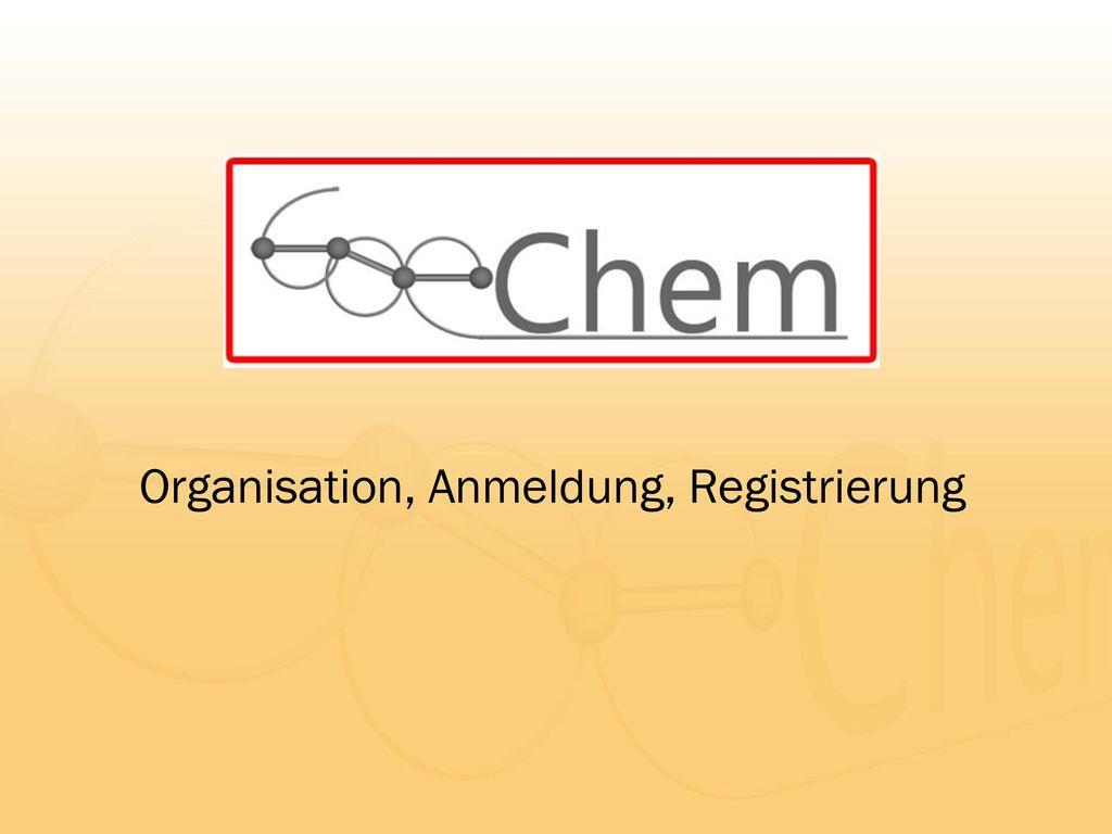 Organisation, Anmeldung, Registrierung