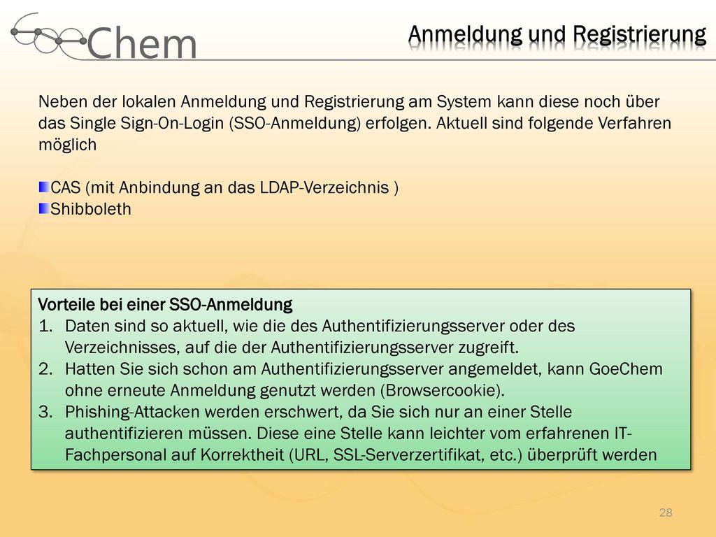 Anmeldung und Registrierung