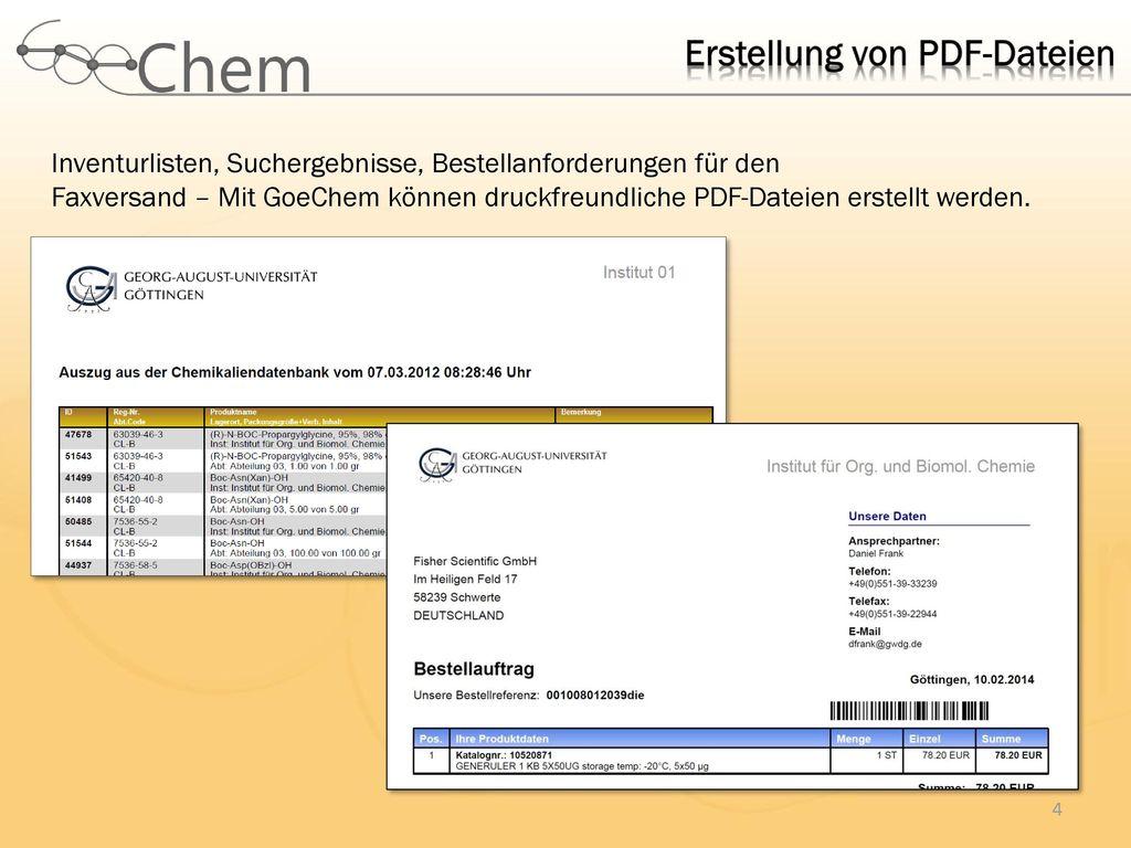Erstellung von PDF-Dateien