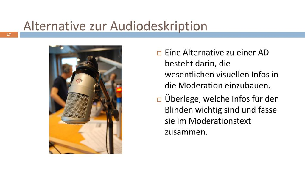 Alternative zur Audiodeskription